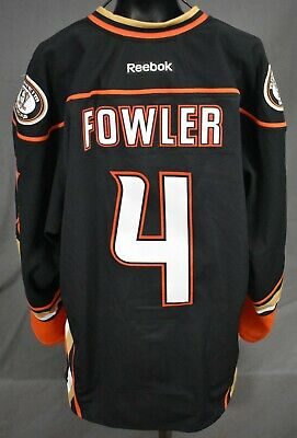 newest collection ea1dd 12f6e Cam Fowler  4 Signed Set Tag  2 Anaheim Ducks Game Worn Hockey Jersey LOA