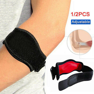 Adjustable Tennis Golf Elbow Support Padde Brace Strap Band Forearm Protector O