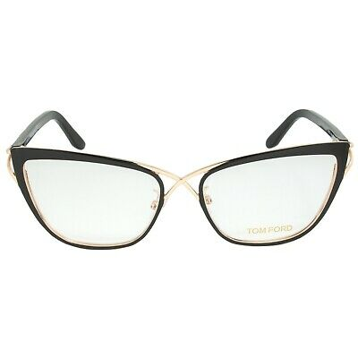 96e89c424b609 TOM FORD BUTTERFLY Eyeglasses TF5272 005 Size  53mm Rose Gold Black ...