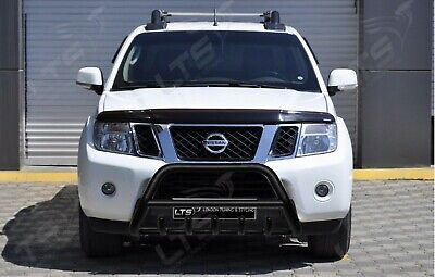 Nissan Navara Pathfinder D40 Steel Black Axle Nudge A-Bar Bull Bar 2010-2015