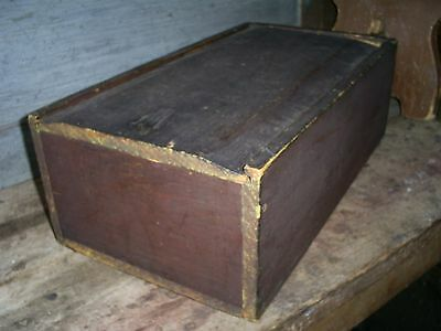 Antique 19th C New England Large Painted Candle Box Primitive AAFA