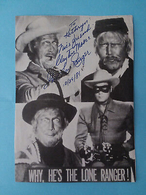CLAYTON MOORE The Lone Ranger Signed Autographed 8 x 10 paper Photo flyer