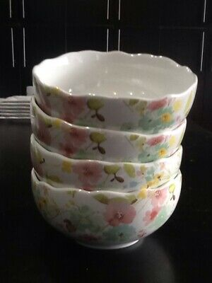 222fifth Sydney Easter Bunny 4 New Cereal Bowls