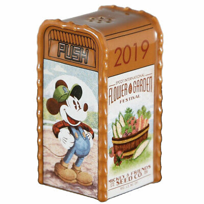 Disney Parks Epcot Flower and Garden 2019 Trash Can Salt or Pepper Shaker