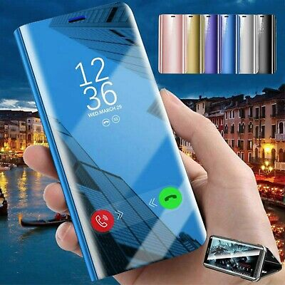 New Huawei P30 Pro P Smart 2019 Smart View Mirror Leather Flip Stand Case Cover