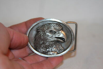 Vintage 1984 Bergamot Brass Works USA Made American Bald Eagle Belt Buckle