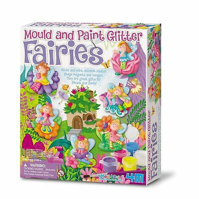 4M Mould & Paint Glitter Fairy Childrens Creative Craft Set