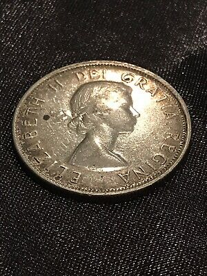 1955 Canada 50 Fifty Cents Half Dollar Circulated Canadian Coin Collectible