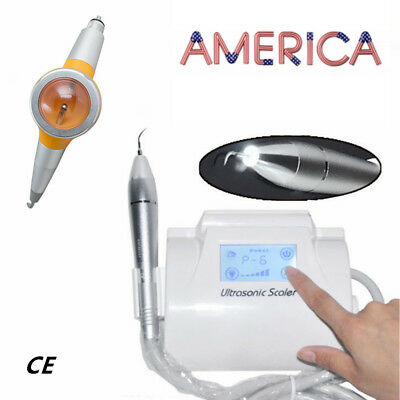 LCD Touch Screen Dental Ultrasonic Piezo Scaler +LED Handpiece+Air Polisher 2019