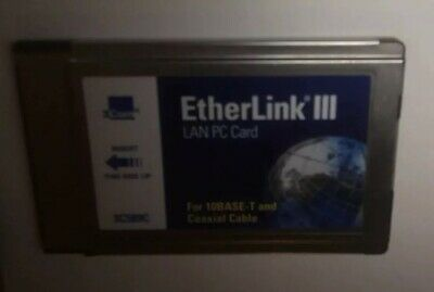 CARD Ethernet PCMCIA 3COM 3C589C ETHERLINK III LAN PC CARD
