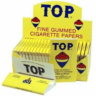 TOP FINE GUMMED ROLLING PAPERS-24 BOOKLETS  Free Shipping
