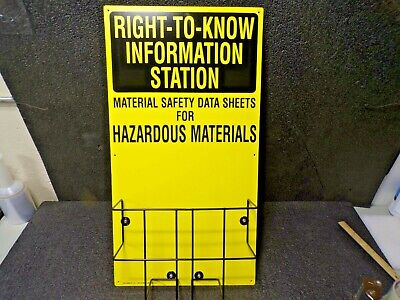 """Right To Know Information Station, 30"""" X 16"""""""
