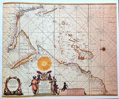 Vintage Map Print For Framing Of An Antique Circa 1650 Map Of Part East Indies