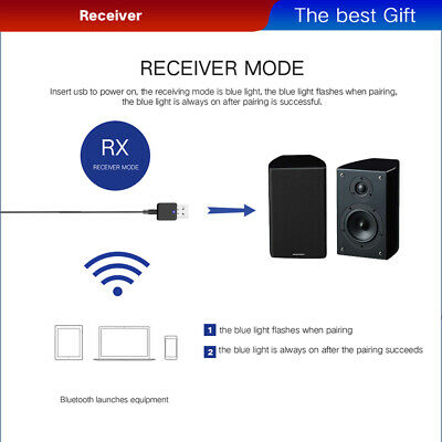 Super-Portable Bluetooth 5.0 Audio Transmitter/Receiver Adapter For CD Player