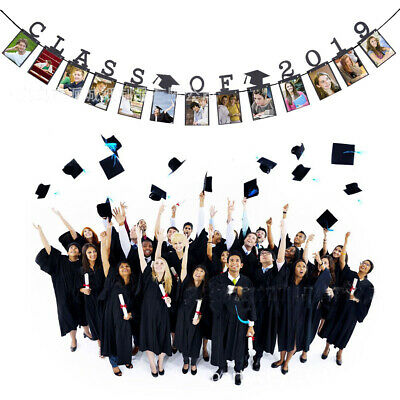 Class of 2019 Graduation Buntings Banner Party Cap Hanging Garland Photo Props