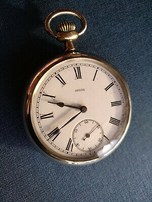 Jewelry & Watches Vintage 42mm Swiss 24 Hour Openface Pocketwatch Movement Volume Large