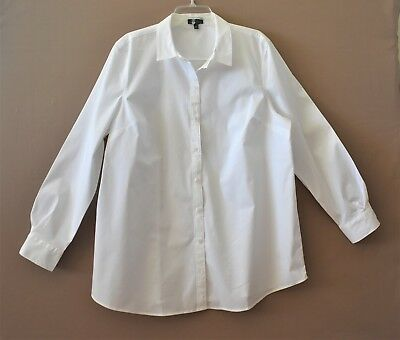 The Limited Womens White Long Sleeve Shirt  Size XXL  NWOT