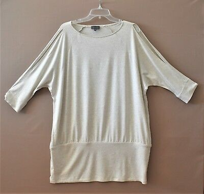 The Limited Womens Light Gary Knit top 3/4 Sleeve  Size XXL   NWOT