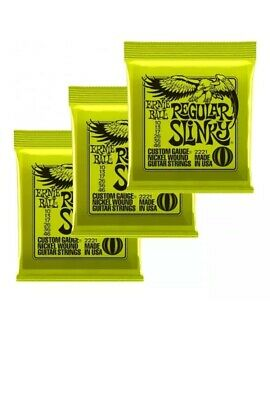 new Ernie Ball 3221 Regular Slinky 2221 Electric Guitar Strings Offer X3 Sets