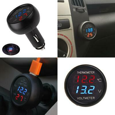 PolarLander 3 in 1 Digital Display Ammeter Voltmeter Thermometer 12V 24V...
