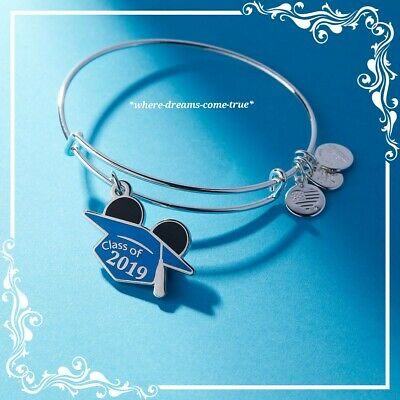 Disney Mickey Mouse Graduation Cap Bangle by Alex and Ani - Class of 2019 (NEW)