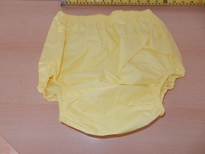 "Adult Baby Yellow Noisy Plastic Pants. Size S Small  24""-28"" Waist"