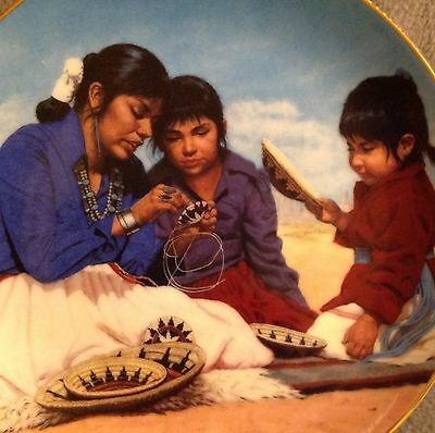 Hamilton Collector Plate -PROUD INDIAN FAMILIES -POWER OF THE BASKET-1991
