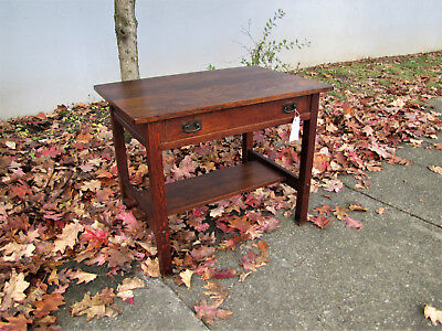 Early Antique L&jG Stickley Desk  inv5049  RARE SIZE  FREE SHIP TO OH FOR 4 DAYS