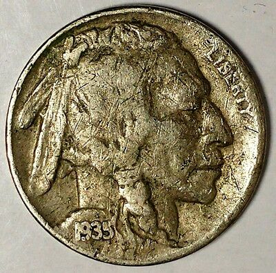 1935-S 5C Buffalo Nickel, 18uo0721-a  Only 50 Cents for Shipping