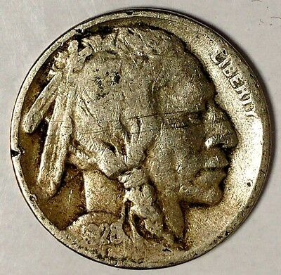 1928-S 5C Buffalo Nickel, 18hr0901-a  Only 50 Cents for Shipping