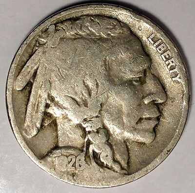 "1926-P 5C Buffalo Nickel, 17cc2410 ""Only 50 Cents for Shipping"""