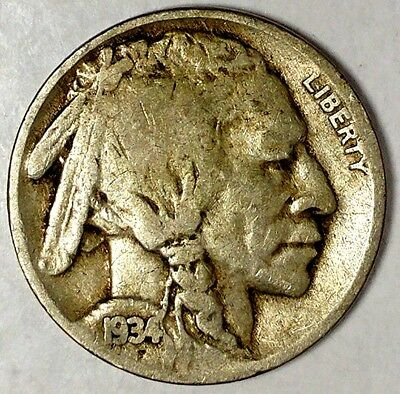 "1934-P 5C Buffalo Nickel 18ht2503a Only 50 Cents for Shipping""*a"