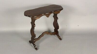 Small Antique 1920's Spanish Revival Walnut Side Table (11762)
