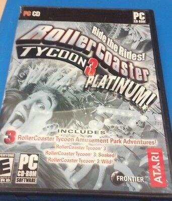 ROLLERCOASTER TYCOON AND Deer Hunting Lot (PC) Game - $28 31