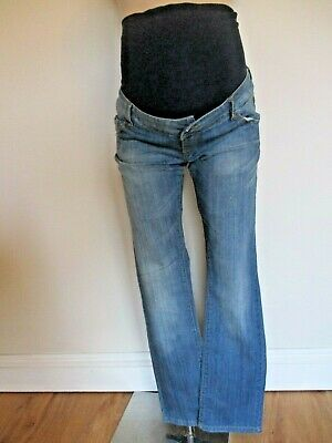 Mamalicious Maternity Blue Denim Over Bump Bootcut Jeans Size 6 8 10 12 Bnwt £50