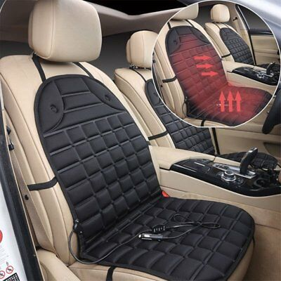 Black 12V Car Seat Hot Cover Heater Heated Pad Massage Cushion Cover tal