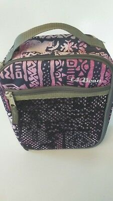Awe Inspiring Ll Bean Insulated Lunch Bag Pink Green Excellent Condition Gmtry Best Dining Table And Chair Ideas Images Gmtryco