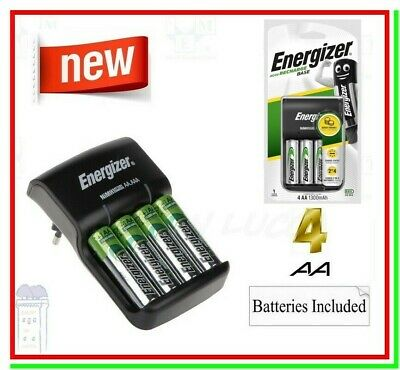 Caricabatterie per Pile Ricaricabili ENERGIZER RECHARGE + 4 Batterie AA STILO