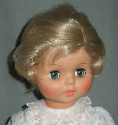 DOLL WIG Size 15: BROWN wig  BETH STYLE Short Wavy, Side Part BOY or GIRL