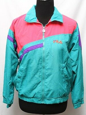 acfd1b75e546e Vintage FILA Windbreaker Jacket Rare made in ITALY- Pink Purple Turquoise