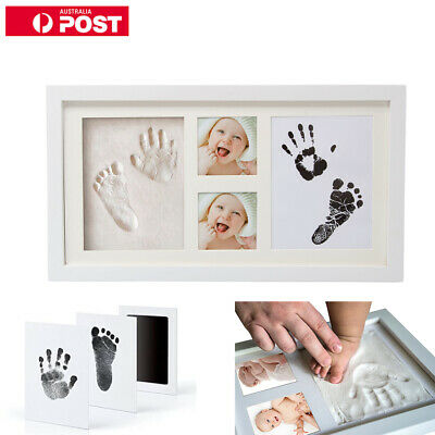 Baby Hand and Foot Print Kit 2D&3D Photo Frame Newborn Unique Keepsake Gifts  AU