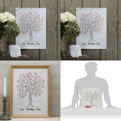 Ginger Ray Vintage Wedding Fingerprint Tree - Canvas with Inks &...