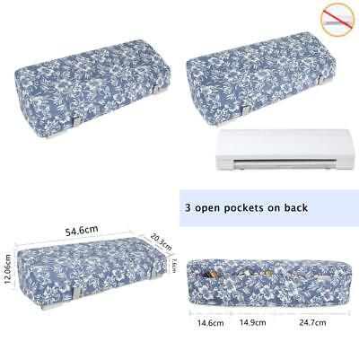 Luxja Dust Cover Compatible with Silhouette Cameo 3, Canvas Back Pockets Flowers
