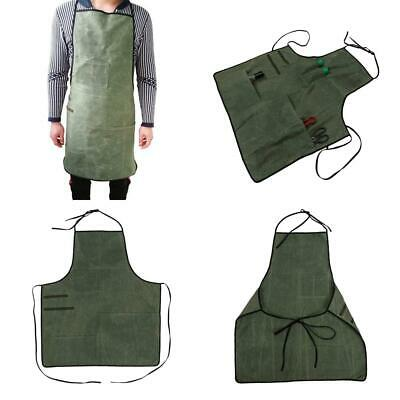 Heavy Duty 12 OZ Waxed Canvas Utility Tool Apron Workshop For Men And Women...