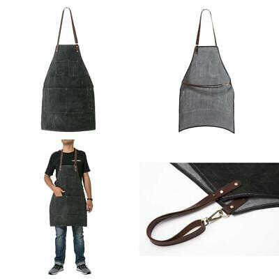 ChengYi 12 OZ Waxed Canvas Work Apron 7 Pockets Stylish Durable...