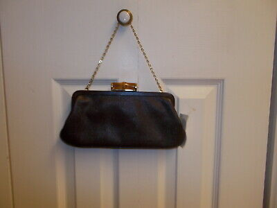 0cccfe5ce972 Ann Taylor Leather Clutch Handbag Chain10.5