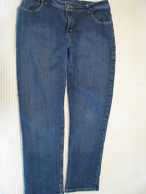 Lee Riders Pants Womens Jeans Sz 20W M Relaxed Fit Stretch Blue Light Faded Look