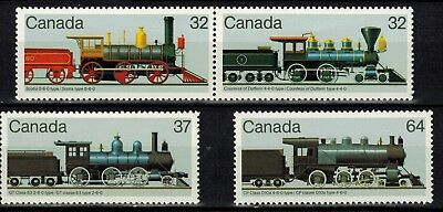Canada #1037a & #1038-1039 MNH XF/S Pair and Singles 1984 Locomotives CV$4.25