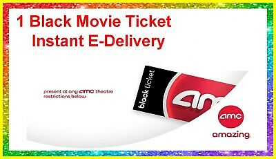 AMC Theaters Black Movie Ticket. Never expires. delivered instantly. E-Ticket