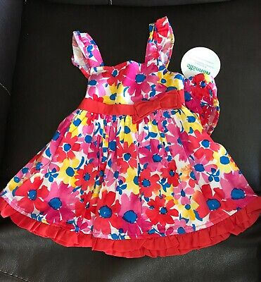 6dcced8fb NEW NANETTE BABY girl dress 6-9 months pink red floral spring summer ...